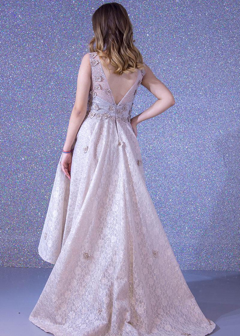 8e4380d91 فستان سهرة طويل ديكراديه ليزر دانتيل+ تول. Hover to Zoom, Click to Enlarge