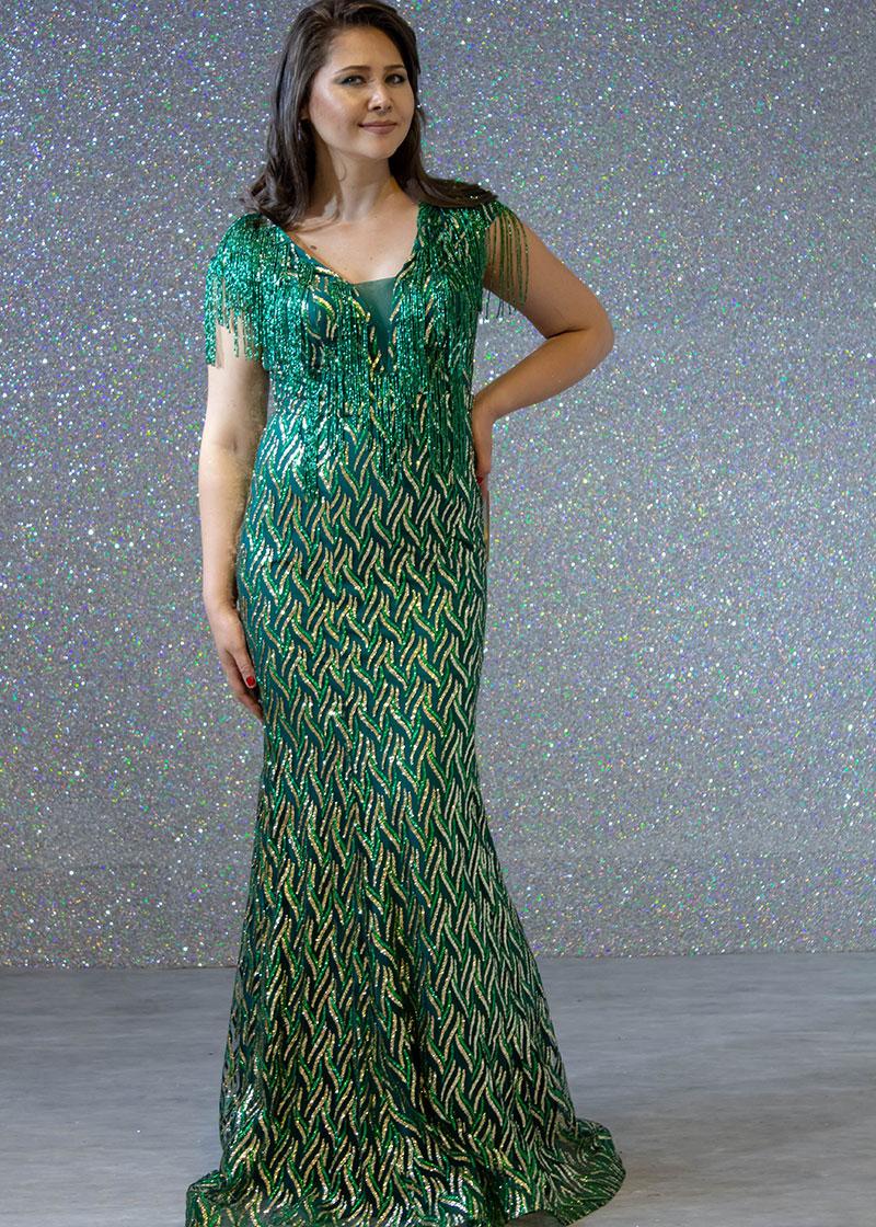 d3afd60b3 فساتين السهرة: فستان سهرة طويل ليزر