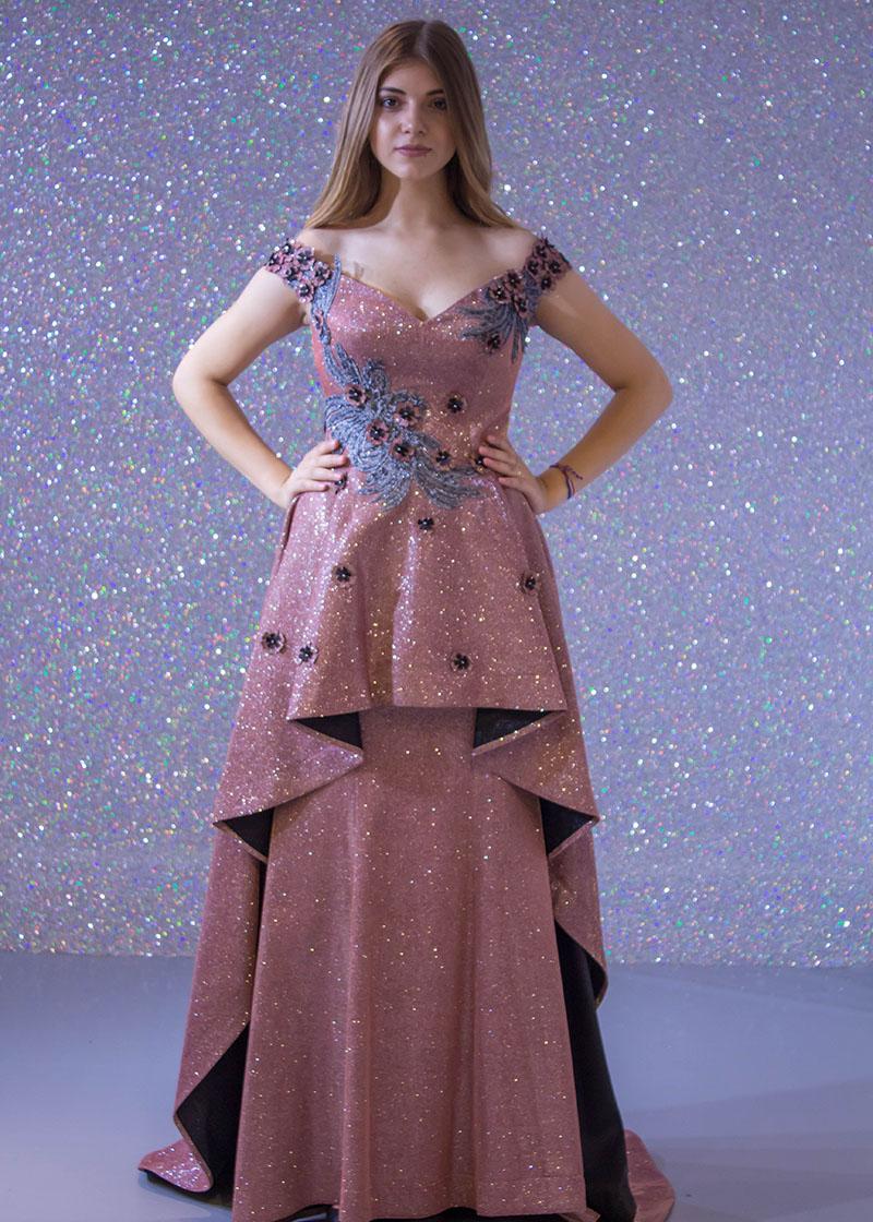 88dada0ea فساتين السهرة: فستان سهرة طويل ليزر دانتيل