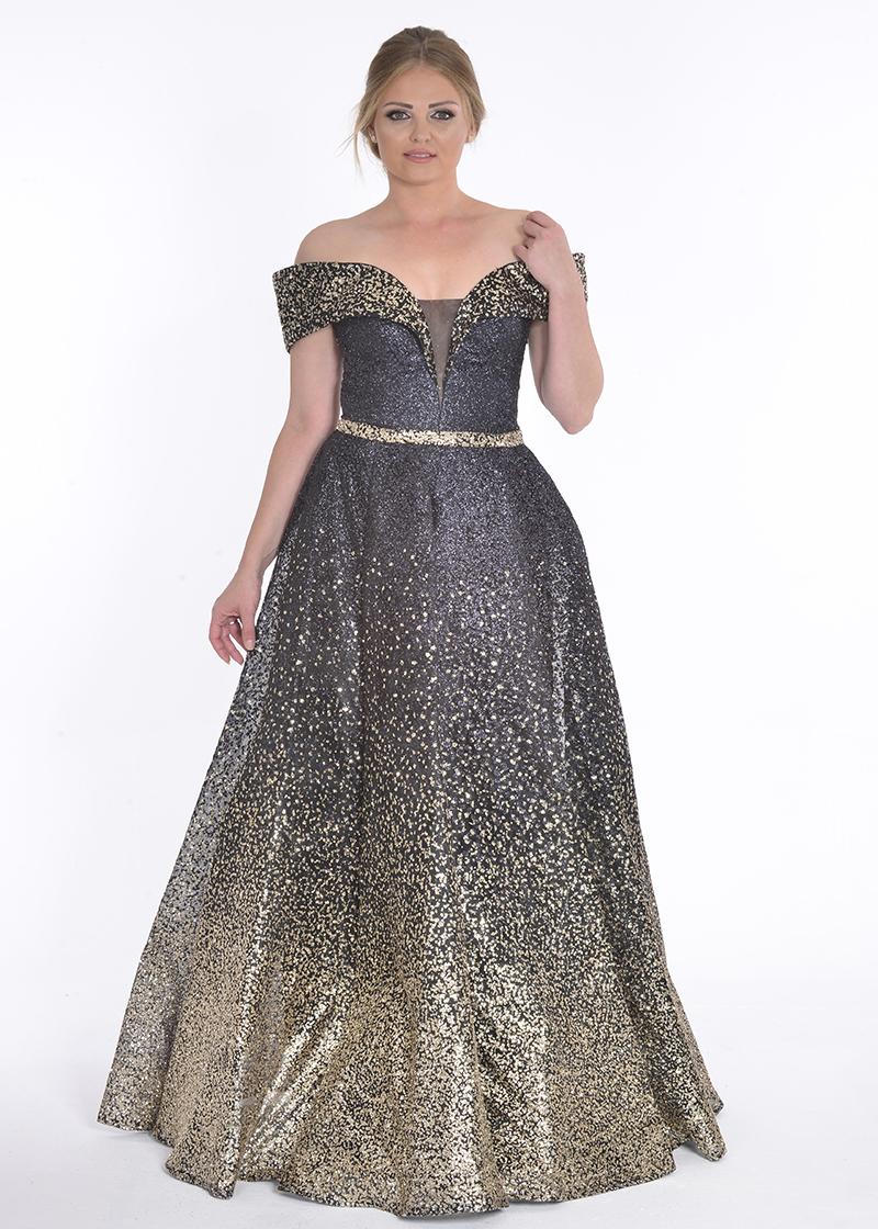 فستان سهرة ليزر